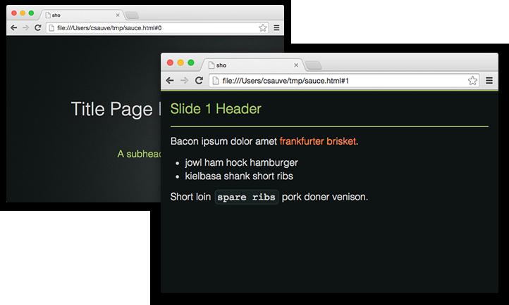 sho slides example 1